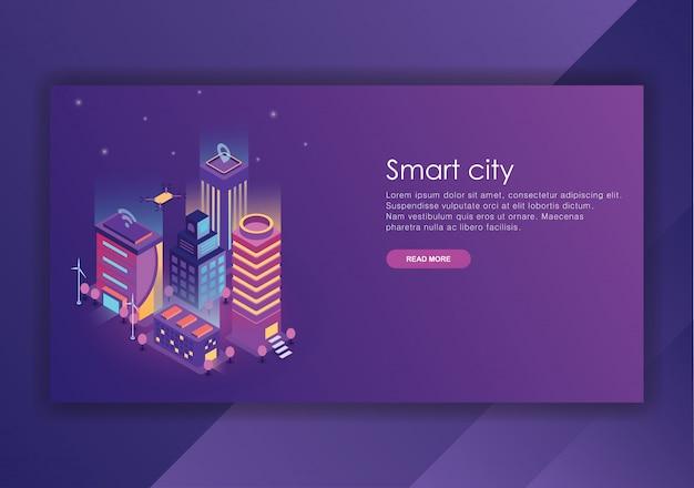 Smart city isometric design  template Premium Vector