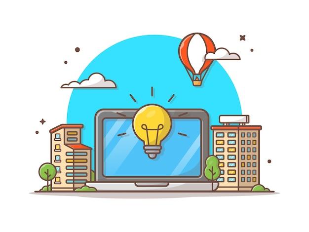 Smart city vector icon illustration Premium Vector