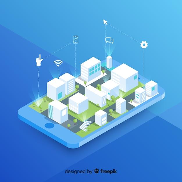 Smart city Free Vector