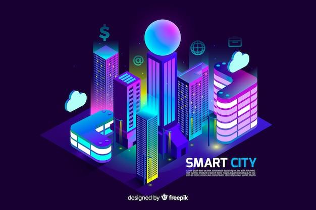 Città intelligente Vettore gratuito