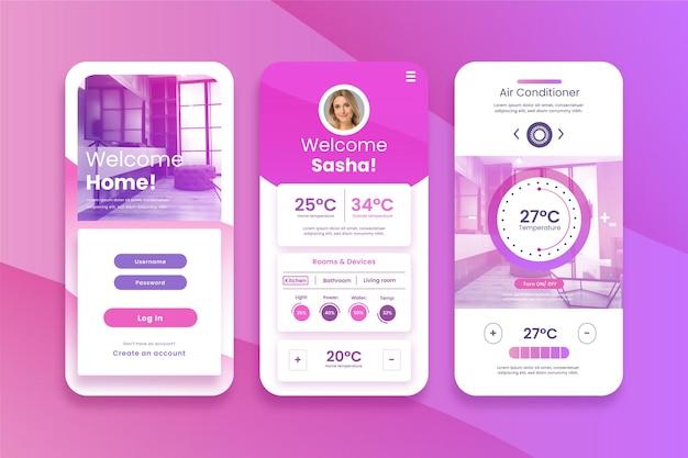 スマートホームアプリ 無料ベクター