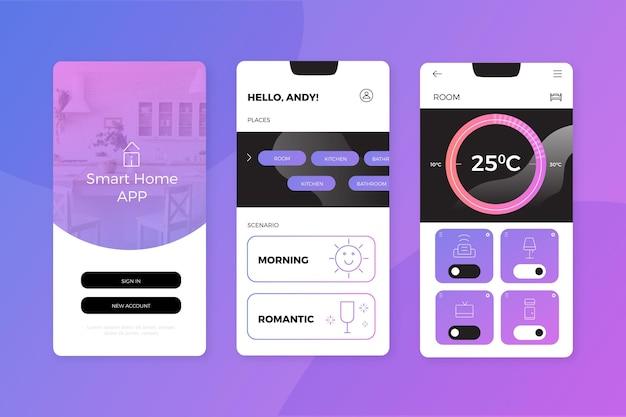 スマートホームアプリ Premiumベクター