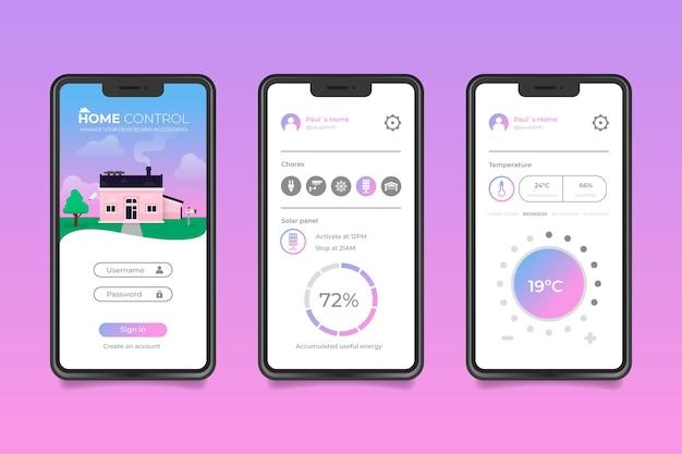 App per la casa intelligente Vettore gratuito