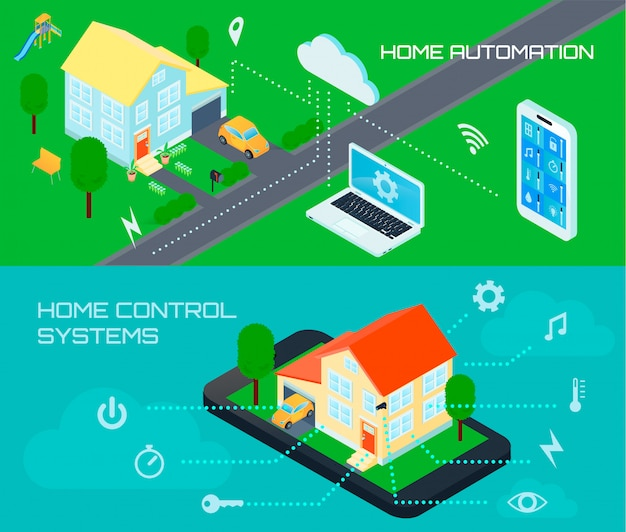 Smart home automation control system Free Vector