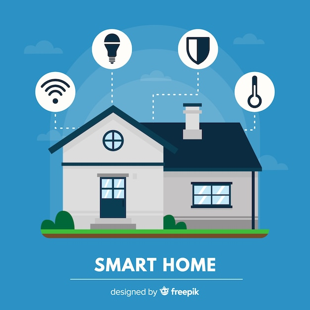 Smart home background Free Vector