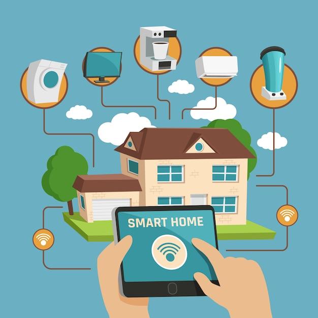 Smart home design concept Free Vector