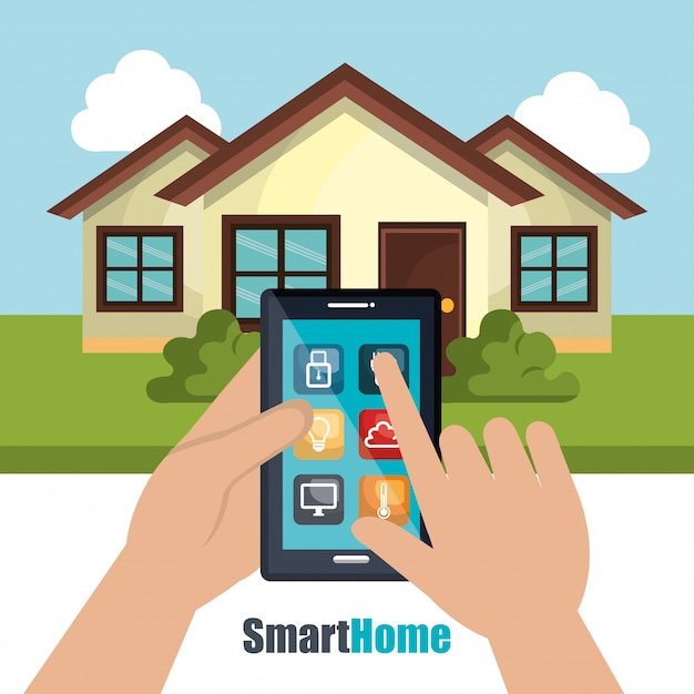 Smart home illustration Premium Vector