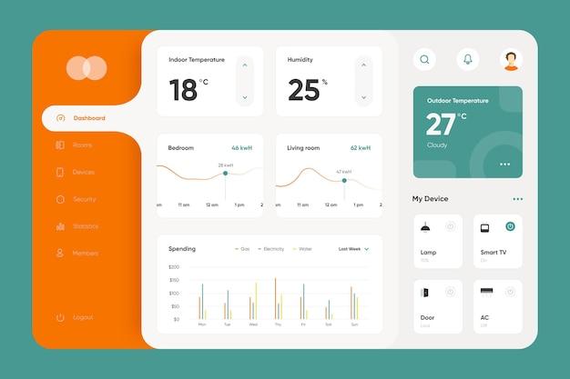 Raccolta di app per la gestione della casa intelligente Vettore gratuito