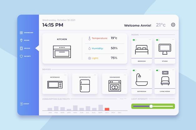 スマートホーム管理アプリケーション 無料ベクター