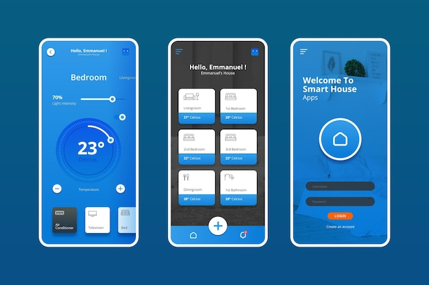Smart home mangement Premium Vector