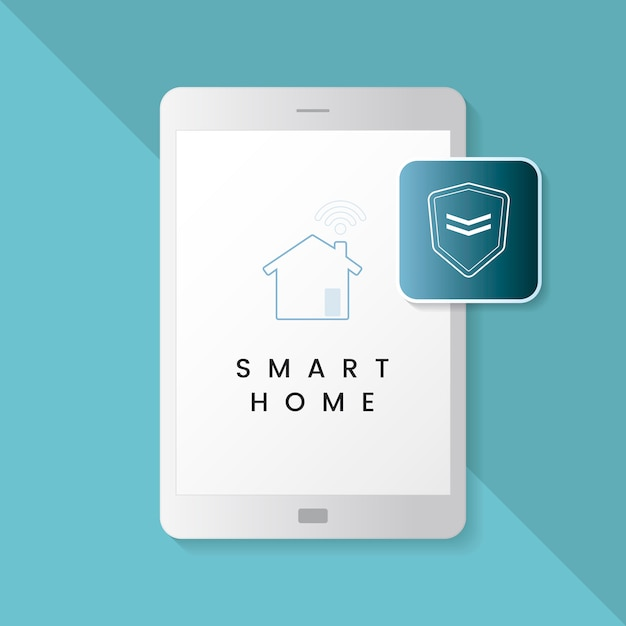 Smart home protection infographic vector Free Vector