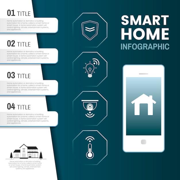 Smart home tech infographic vector Free Vector