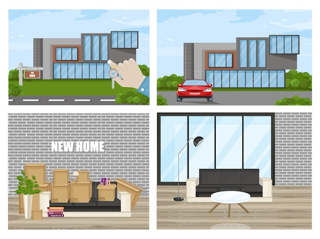 Smart house flat style Premium Vector