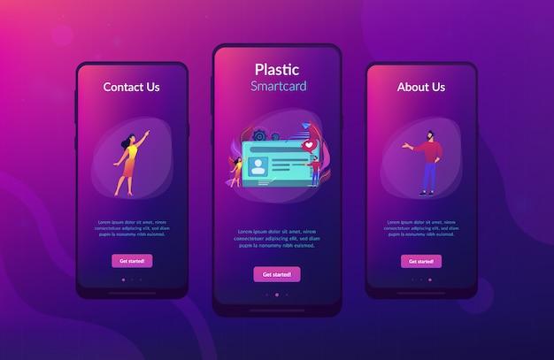 Smart id card app interface template. Premium Vector