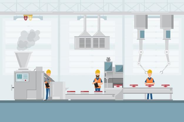 Smart industrial factory Premium Vector