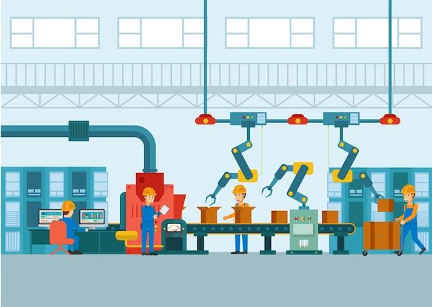 Smart industry with robotic inside Premium Vector