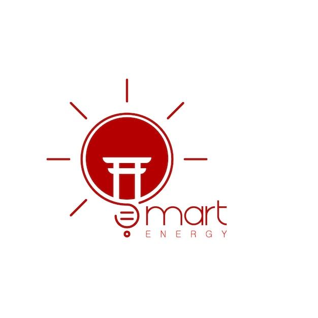 Smart innovation of japan logo Premium Vector