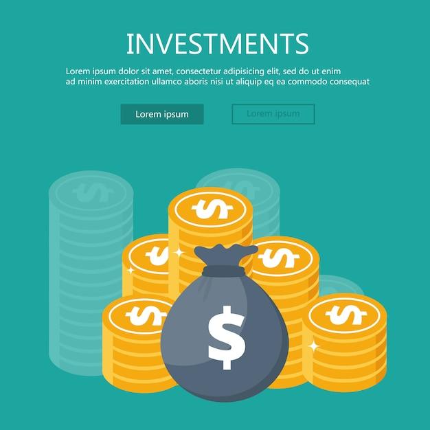Smart investment flat design concept Premium Vector