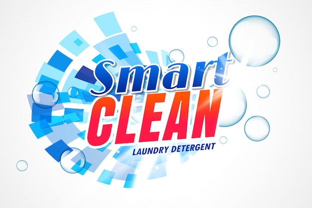 Smart laundry detergent packaging template Free Vector