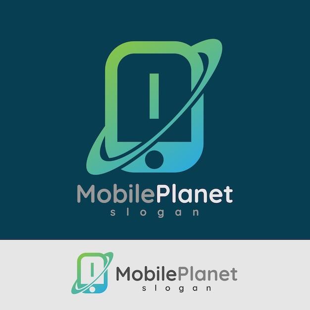 スマートモバイルの初期の手紙iロゴデザイン Premiumベクター