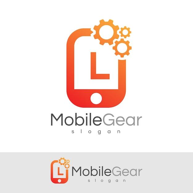 スマートモバイルの初期の手紙lロゴデザイン Premiumベクター