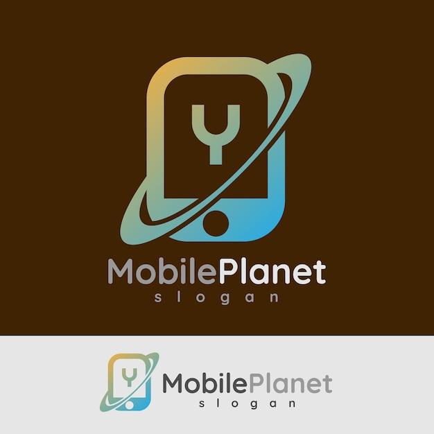 スマートモバイルの初期の手紙aロゴデザイン Premiumベクター