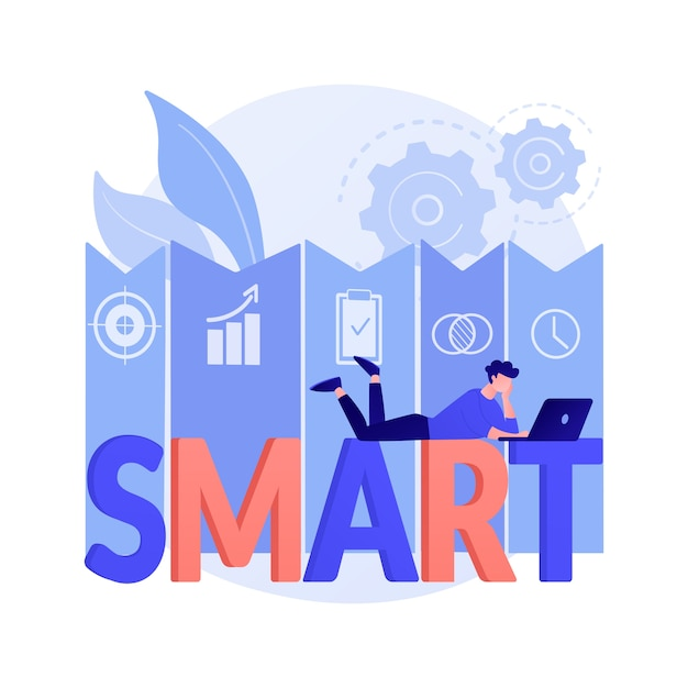 Smartobjectives抽象的な概念図 無料ベクター