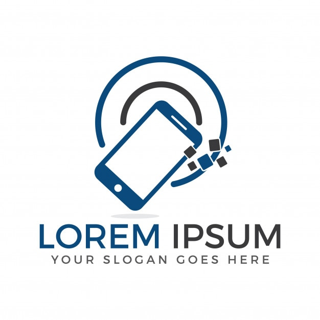 Smart phone logo design mobile application mobile repair for Mobile logo