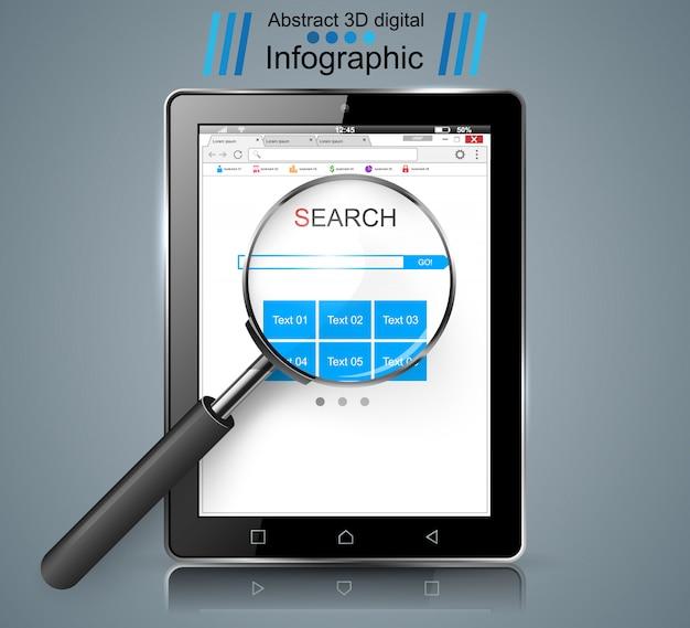 Smart tablet Premium Vector