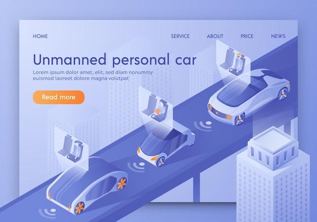 Smart vehicle with passengers sitting in cockpit. Premium Vector
