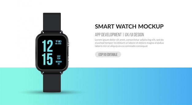 Умные часы для разработки приложений и ux / ui, спортивные аксессуары для фитнеса Premium векторы