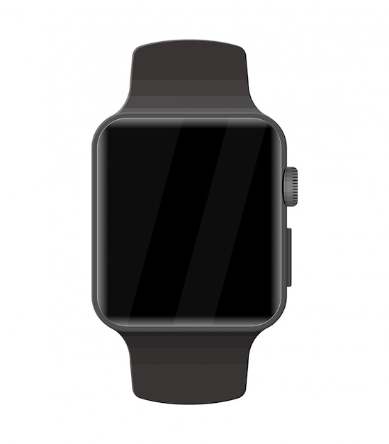 Smart watch isolated on white. Premium Vector