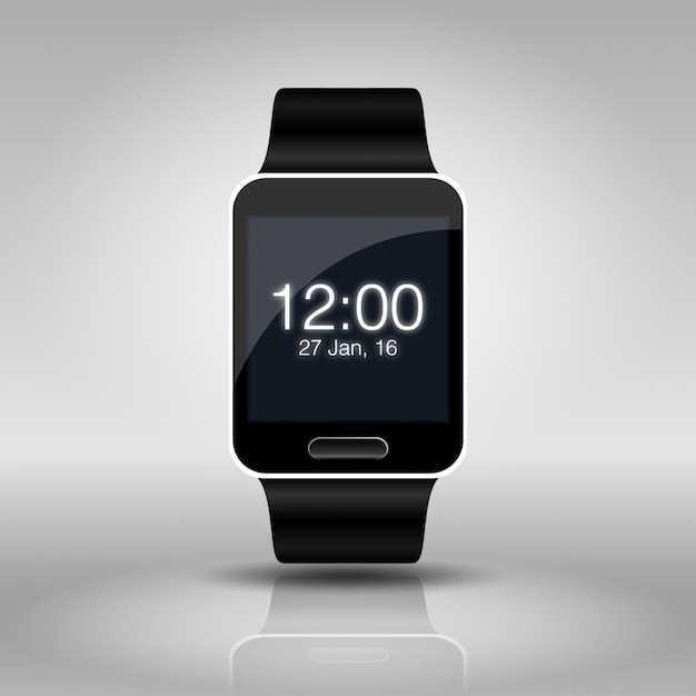Smart watch mock up isolated on white Premium Vector