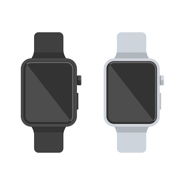 Smart watch white and black Premium Vector