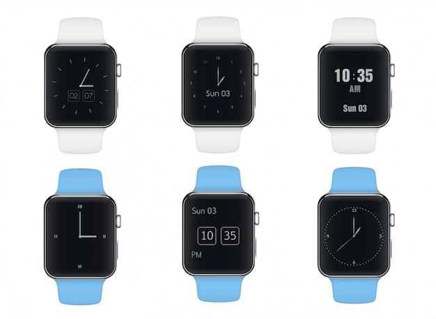Smart watch with different dials Premium Vector