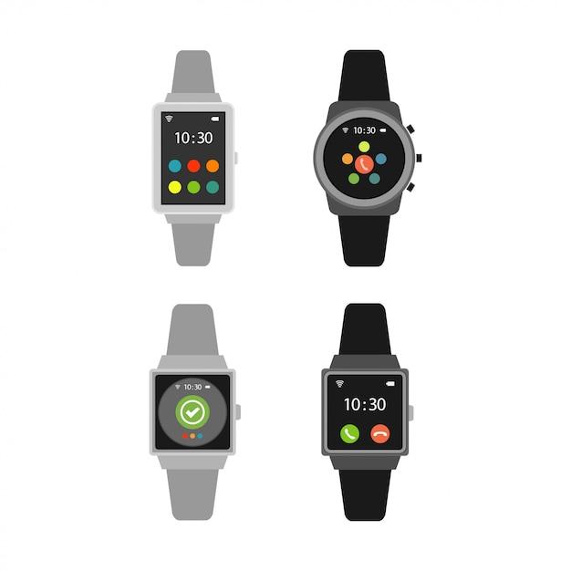 Набор умных часов Premium векторы