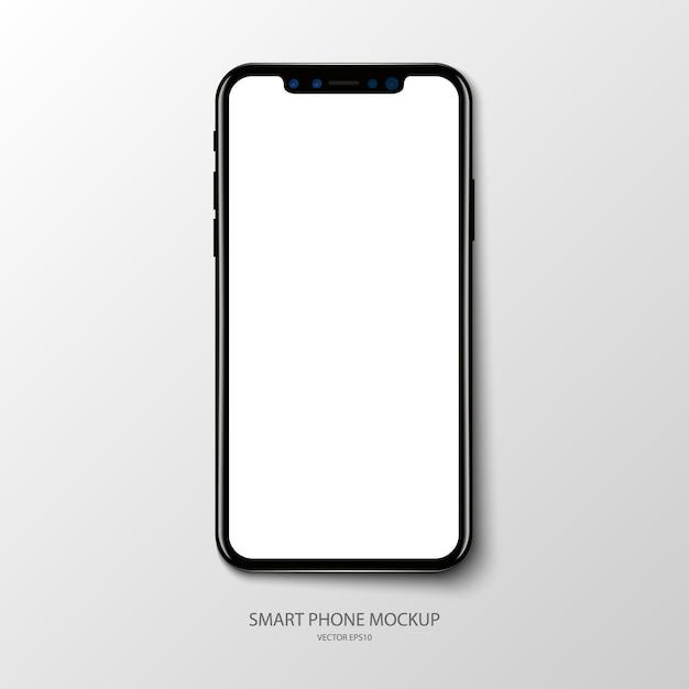 Макет экрана приложения для смартфона на сером фоне Premium векторы