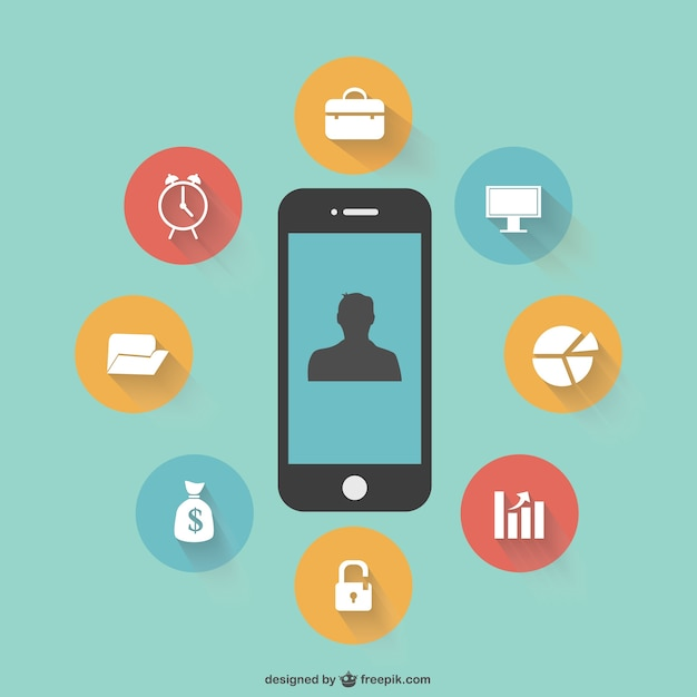 Smartphone applications Free Vector