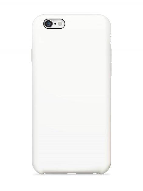 スマートフォンの背面カバーのモックアップ Premiumベクター