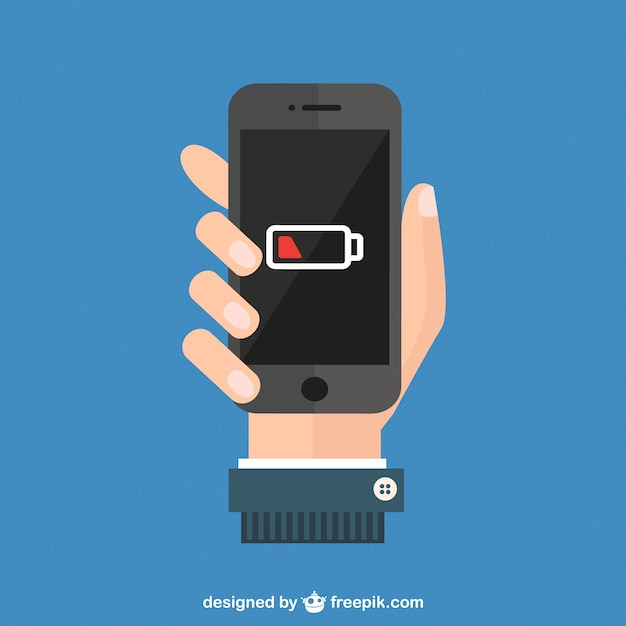 Smartphone battery level vector Premium Vector