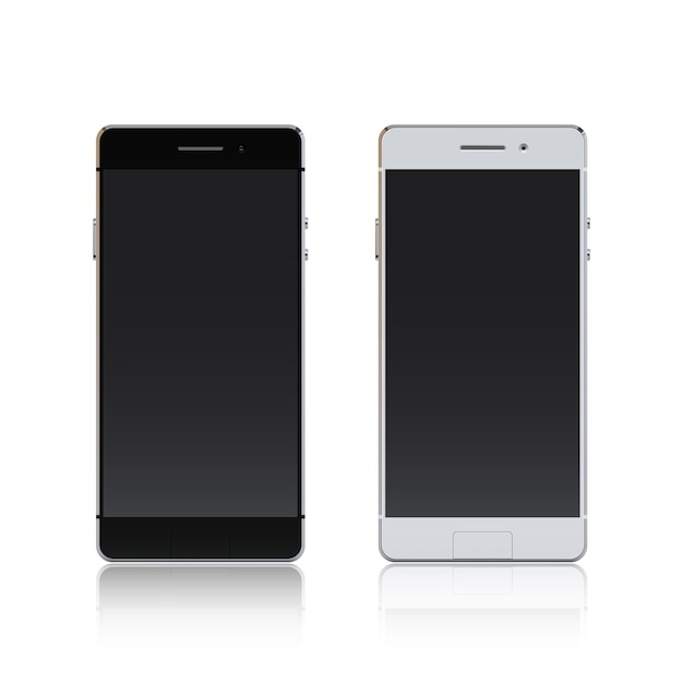 Smartphone black and white Free Vector