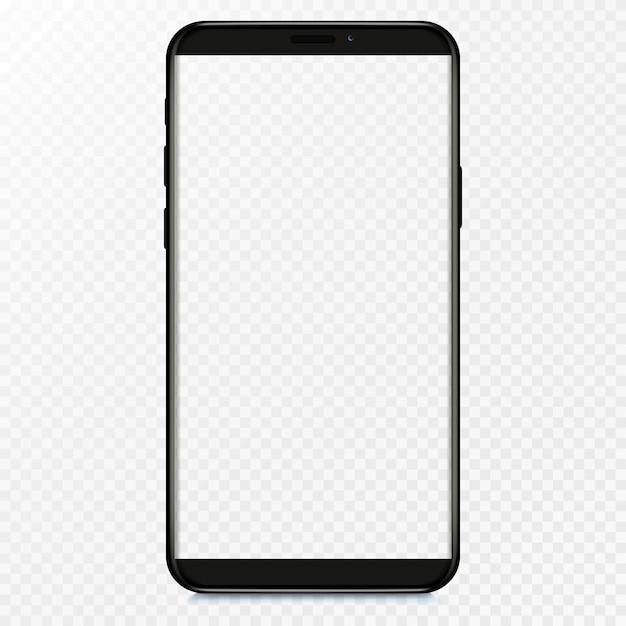 스마트 폰 빈 화면, 전화. 인포 그래픽 또는 프리젠 테이션 Ui 디자인 인터페이스 용 템플릿. 프리미엄 벡터