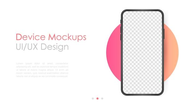 Smartphone blank screen Premium Vector