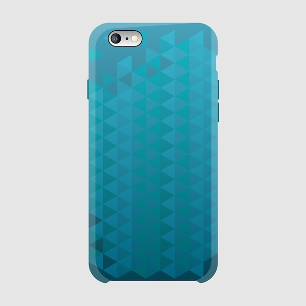Smartphone case, triangle Premium Vector