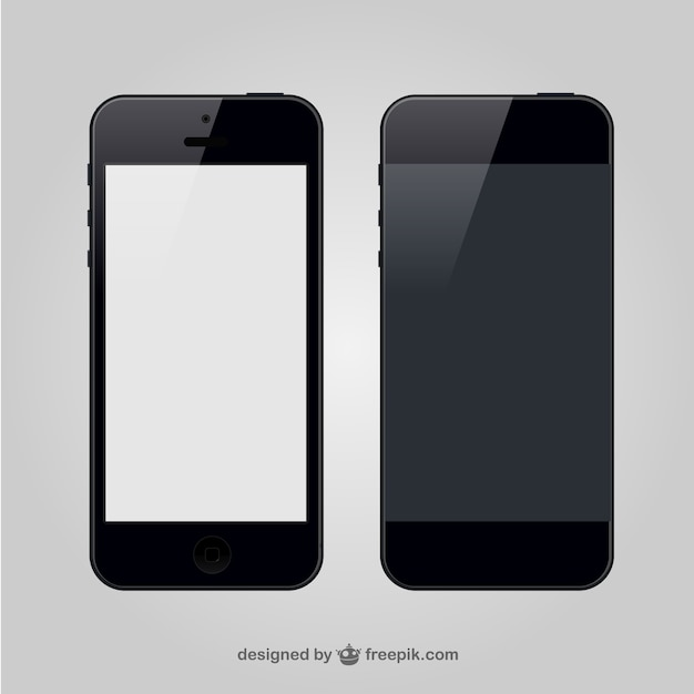 Smartphone front and back Free Vector