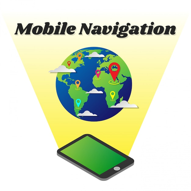 Smartphone gps navigation with world map vector premium download smartphone gps navigation with world map premium vector gumiabroncs Image collections
