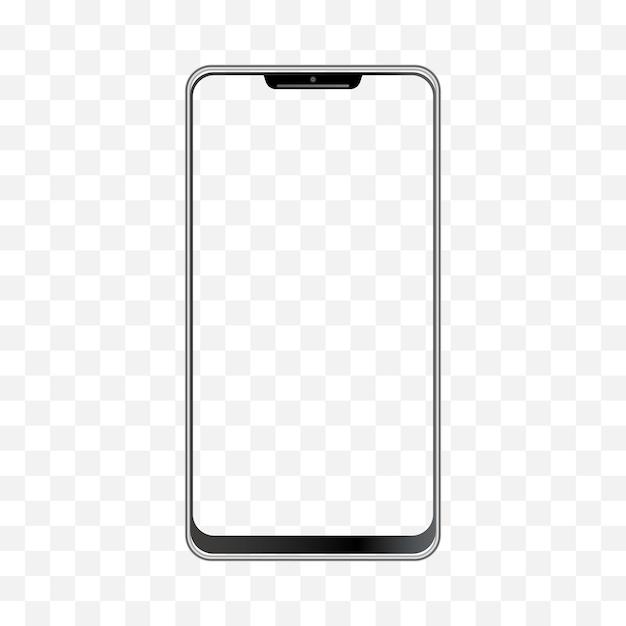 스마트 폰 일러스트 빈 디스플레이 격리 템플릿 핸드폰 프레임입니다. 프리미엄 벡터
