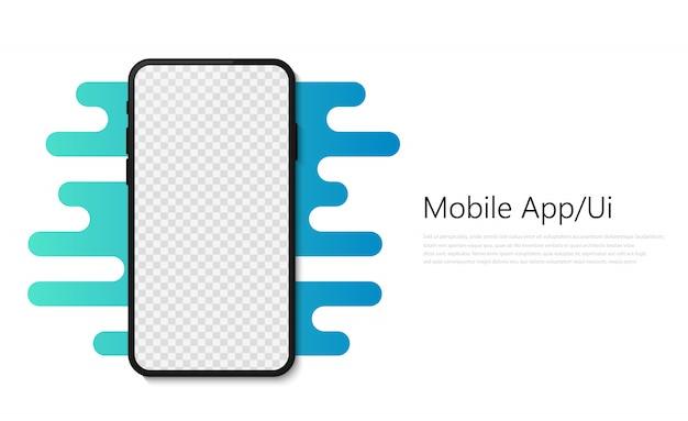 Smartphone mobile app illustration Premium Vector