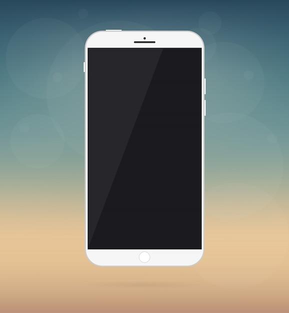 Smartphone, phone device mockup. Premium Vector