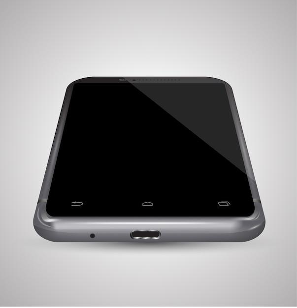 Smartphone realistic vector mockup. Premium Vector